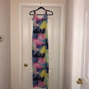 Boohoo tye dye long maxi dress